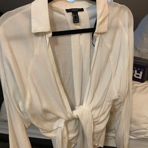 Forever 21 tie blouse